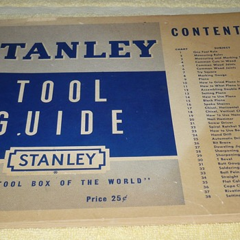 Stanley Tool Guide 1950 - Books
