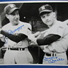 Autographed B&W Photo of Joe DiMaggio & Mickey Mantle