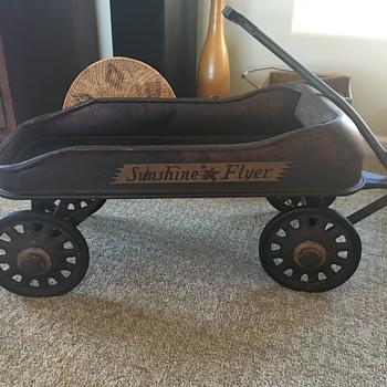 1933 Chicago Worlds Fair Sunshine flyer wagon - Toys