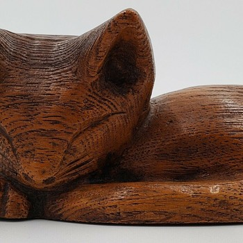 Wooden cat from Japan - Animals