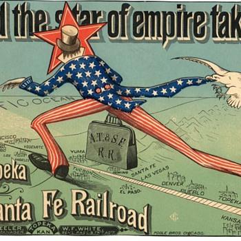 Atchison Topeka and Santa Fe Ad Poster - Railroadiana
