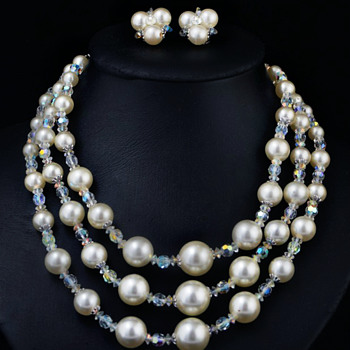 Sherman Necklace circa 1950's - Costume Jewelry