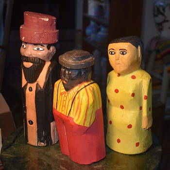 Folk Art Carved Wooden Rabbi? - Folk Art