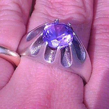 "Silver .925 and ""amethyst?"" ring"
