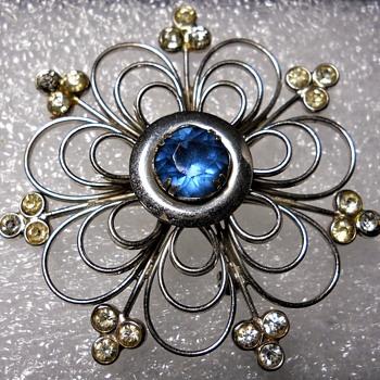 Vintage Sterling Bond Boyd brooch, Mid Century - Fine Jewelry