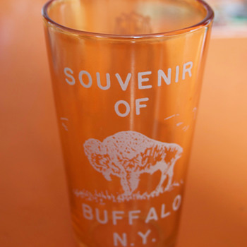 Buffalo Central Terminal Souvenir Glass....New York Central RR - Advertising
