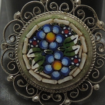 Early 20th c. - Micro Mosaic Clip Earrings