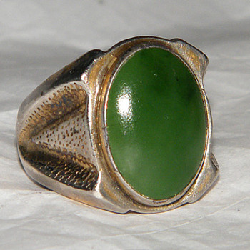 Jane Yikaazba Popovitch Navajo Jade Ring - Native American