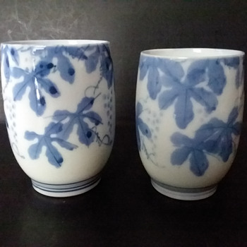 Arita ware meoto yunomi set - Asian