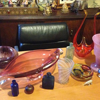 Some of my glass I've found at the dump - Glassware