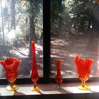 Fenton Amberina glass  - Art Glass