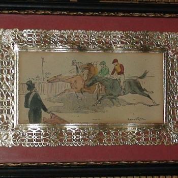Antique Framed Equestrian Prints - Animals
