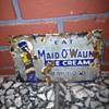 """RARE Porcelain Ice Cream Sign 6""""x9"""""""