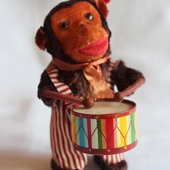 Wind Up Toy Monkey Drummer