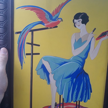Art deco lady painting - Fine Art