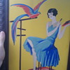 Art deco lady painting