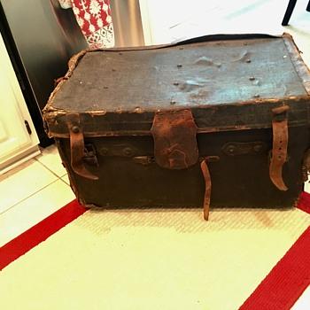 Old Antique Trunk John Handley Glasgow Scotland?  - Furniture