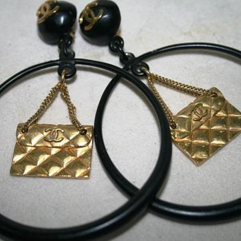 Chanel Hoop Earrings - Costume Jewelry