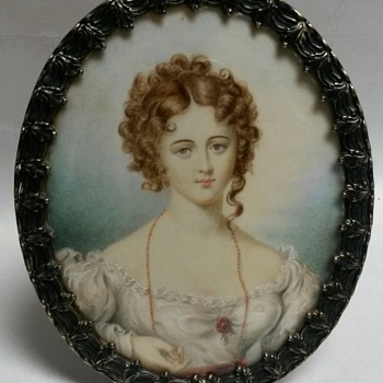Tiffany&Co MAKERS STERLING SILVER Miniature Portrait - Silver