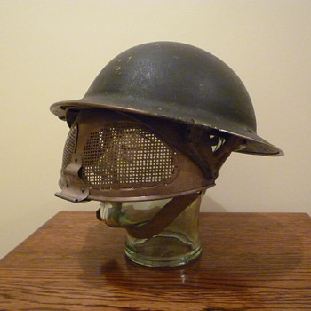 British WWII Navy issue Cruise Visor steel helmet.