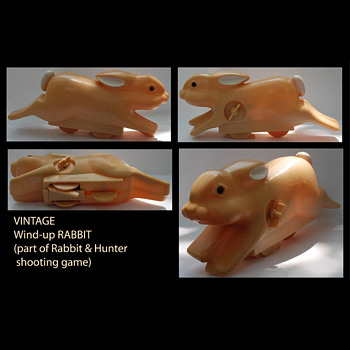 Wind-up Rabbit from shooting toy/game