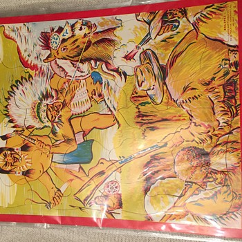 Cowboys and Indians jigsaw puzzle
