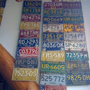 A small fraction of my license plate collection - Signs