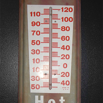 70's Dr Pepper Hot or Cold thermometer - Advertising