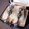Art Deco Diamond Dangle Earrings 18Kt white/yellow gold