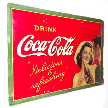 1941 Coca-Cola Tin Sign