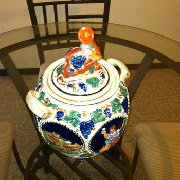 SEIT GERMANY COOKIE JAR SIGNED 1863 WITH A TIANGLE  - Pottery
