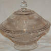 EAPG=Early American Pattern Glass Butter Dish. Cupid & Venus Pattern. 1st made by Richards & Hartley in 1875