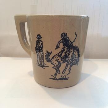 Cowboys Monmouth? Western? Pottery Mug