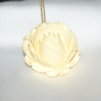 Vintage Celluloid Pendant  - Costume Jewelry