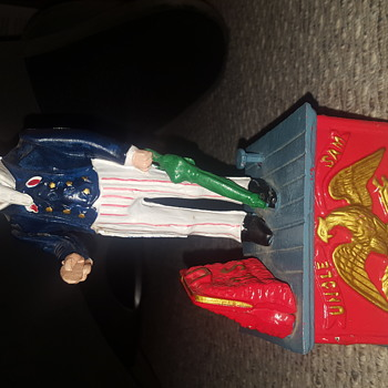 Cast Iron Uncle Sam Bank - Coin Operated