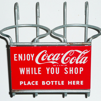 Coca Cola Shopping Cart Bottle Holder - Coca-Cola