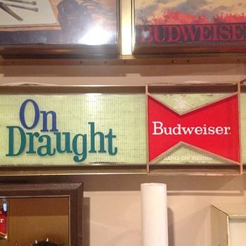 Budweiser sign 1960's - Breweriana