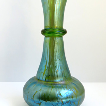 Loetz Creta Papillon Vase with Ring - Art Glass