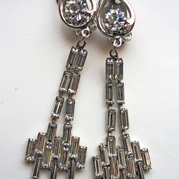Rhinestone earrings - vintage, or not vintage? - Costume Jewelry