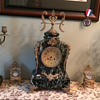 Antique French Mantle Clock and Candlelabras
