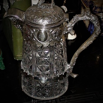 Sterling Silver Claret Jug/Wine Decanter Belonged To  Belisario Juan Montero Cisterna Argentinian Ambassador to Belgium 1880s - Bottles
