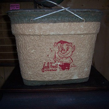 VINTAGE 60`s JARDIER JACK FROST COOLER - Advertising