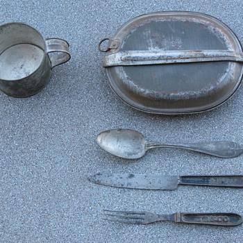 Indian Wars & Spanish American War Era M1874 Mess Kit & Utensils - Military and Wartime