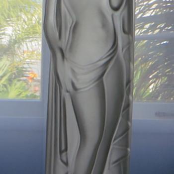 Satin Lady Lamp Base - Art Deco