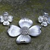 Trifari Dogwood Flower Brooch and Earrings