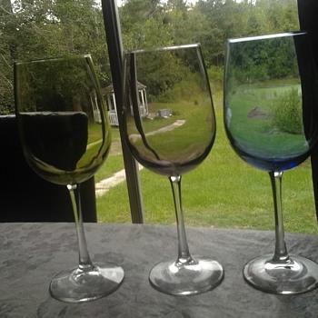 Lenox? colored goblets - Glassware