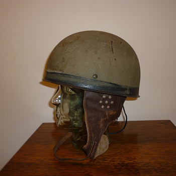 British WWII early steel Dispatch riders steel helmet 1942.