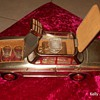 Vintage - early 70's Mercedes Benz Music Box Dectanter Set