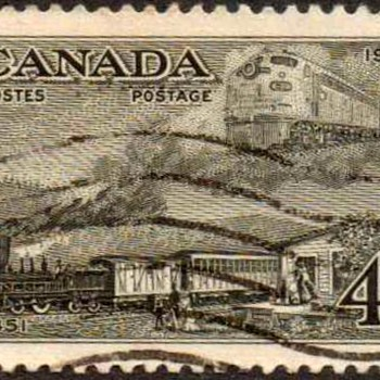 "1951 - Canada ""Trains"" Postage Stamp - Stamps"