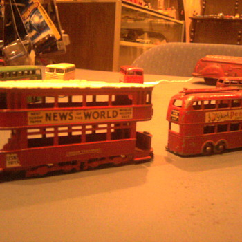 Matchbox Toy buses.  Great detail, advertising and colorful... - Model Cars